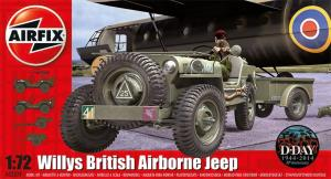 AIRFIX - WILLYS JEEP TRAILER & 6PDR GUN