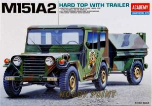 ACADEMY - ACADEMY M151A2 HARD TOP WITH TRAILER 1:35