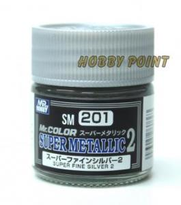 GUNZE SANGYO - 201 SUPER METALLIC COLORS II SUPER SILVER 10 ml