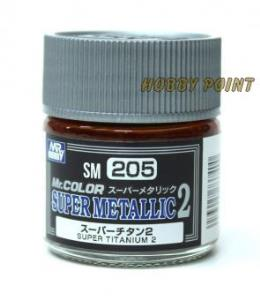 GUNZE SANGYO - 205 SUPER METALLIC COLORS II SUPER TITANIUM 10 ml