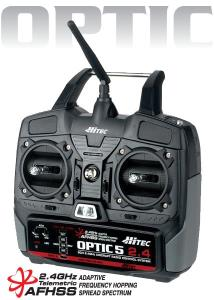 HITEC - OPTIC 5  2,4GHZ TX-RX MODE2