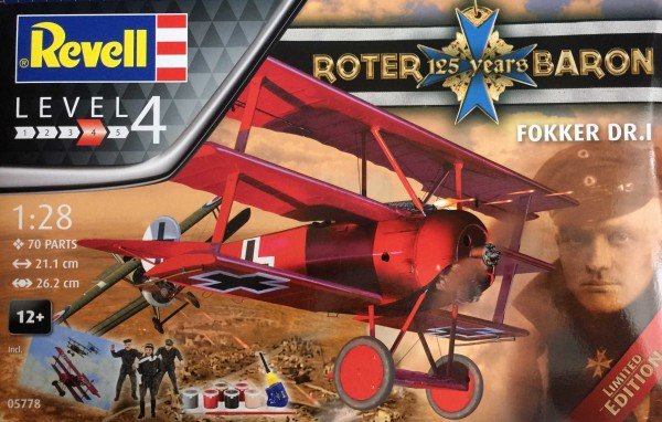 REVELL - 1/28 GIF SET RED BARON